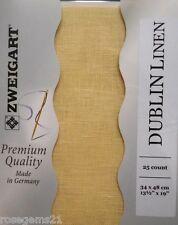 25 Count ZWEIGART DUBLIN LINEN #222 - 34 x 48 cms (NEW)