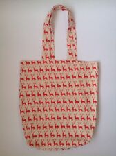 Ladies Red Reindeer Christmas Eco Shopping tote School Library Or Casual Bag