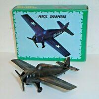 Vintage WWII Spitfire Fighter Airplane Die-Cast Metal Pencil Sharpener No.105