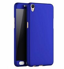 Front back Full 360° Degree Hard Case Cover For OPPO A37 / A37F BLUE