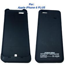 Power Bank iPhone 6 PLUS 5.5 Cover Batteria integrata caricatore 5000mAh-NERO