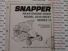 06090 Snapper 421613BVE1 Rear Engine Rider Parts Manual