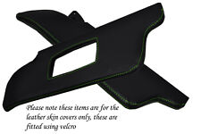 GREEN STITCH FITS PEUGEOT 205 83-98 2X SUN VISORS LEATHER COVERS ONLY
