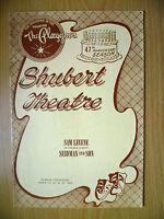 1962 Playgoer: Shubert Theatre 47th Anniversary: Sam Levene in SEIDMAN and SON