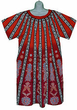 Zipper Caftan Kaftan One Size fits most L XL 1 X 100% Cotton Short Sleeve Dress