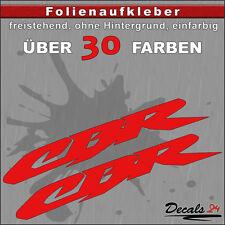 2er SET - CBR Sponsoren-Folienaufkleber Auto/Motorrad - 30 Farben - 8cm