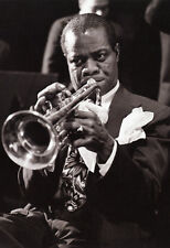 Louis Armstrong Poster, Playing the Trumpet, Jazz