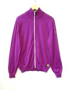 Hugo Boss Merino Wool Jumper Size Large, BNWT Men's Pink Zip Up Knit Cardigan