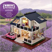 DIY Wooden Dolls house Miniature Kit w/ LED Light-Dollhouse/accessoires/English
