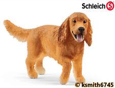 Schleich ENGLISH COCKER SPANIEL DOG solid plastic toy farm pet animal * NEW *💥