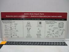 PLUMBMASTER 85749 Plastic Mobile Home Repair Parts Sign - Year: 1996 2 Sided Prt