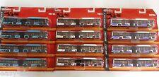LOT de 12 BUS MAN LION'S CITY G MAJORETTE en METAL - 17,5cms