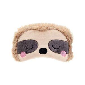 Sass & Belle Sloth Sleeping Cute Fluffy Animal Eye Mask Traveling Napping
