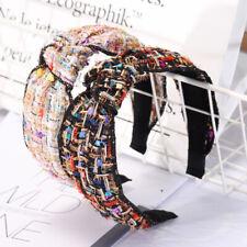 Women's Chic Tie Knot Headband Hairband Cross Fabric Hair Bands Hoop Accessories