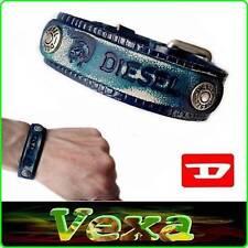 New Style DIESEL Leather Bracelet Blue Bangle Wristband Mens Womens Surf-er BD22
