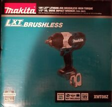"Makita XWT08Z 18V LXT Brushless 1/2"" High Torque Impact Wrench, bare tool"