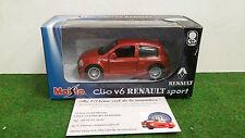 RENAULT CLIO V6 SPORT MAISTO voiture miniature à friction portes ouvrantes motor