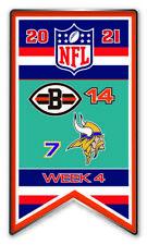 2021 Semaine 4 Bannière Broche NFL Cleveland Browns Vs.Minnesota Vikings Super