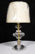 LUME LAMPADA DA TAVOLO IMPORTANTE CRISTALLO VETRO ORO PARALUME PLISSE ART.LU1