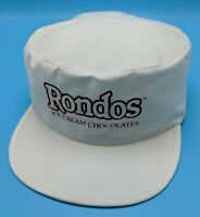 RONDO'S ICE CREAM /CHOCOLATES lightweight cadet-style white adjustable cap / hat