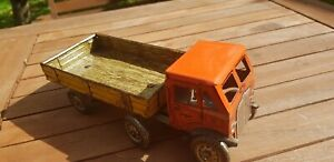 Vintage METTOY 1940s Articulated Open Lorry Truck- Clockwork Tinplate