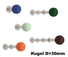 Wandhaken Rick Kugel 48mm 106 Farben Edelstahl Kleiderhaken Garderobenhaken Dots