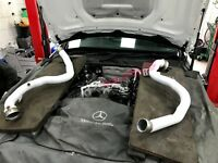 Quicksilver Exhausts Mercedes C63 4.0 Turbo W205-Cat Delete Pipes Ceramic Coated