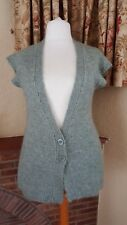 GREEN BELTED 2 BUTTON CARDIGAN FROM PRIMARK WOOL MIX - SIZE 18