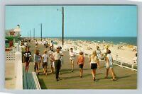 Boardwalk And Beach, Vintage Rehoboth Beach Delaware Postcard