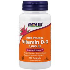 La vitamina D-3, 1000iu X 180 Cápsulas blandas-Now Foods D3