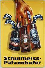 Schultheiss - Patzenhofer Blechschild, 50 x 70 cm, gewölbt & Motiv geprägt