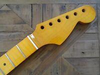 New Manche STRATOCASTER flamed - vernis brillant 22frettes - pour guitare strat
