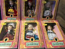 lot of 6 -1992 Vintage NEW Bright Collection BookCase Dolls