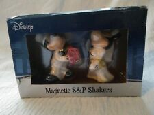 Disney~Mickey & Minnie Wedding~Salt & Pepper Shakers~Magnetic~Rare~Wes tland
