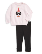 Kate Spade Baby Girls Cat Mask Sweater & Leggings Set Outfit NEW Tags Size 18 mo