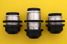 3 Vintage Zeiss Jena lenses set PL mount Arri  Arriflex F5 F55  URSA  C300