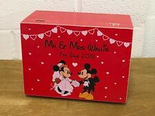 Vintage Disney Mr & Mrs Wedding Memory Keepsake box Gift