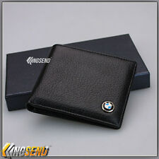 new BMW Bifold Wallet Genuine Leather Mens Real Car Purse Credit Card Holder