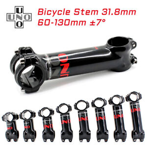 UNO 7Degree Bicycle Handlebar Stem Riser Road Bike Stem 31.8*60-130mm MTB Parts