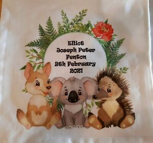 Australian animals Birth Details Cushion Cover - Personalised Custom Gift
