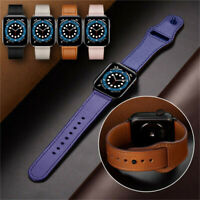 38/42/40/44mm Genuine Leather Band Strap for Apple iWatch Series 6 5 4 3 2 1 SE