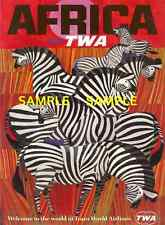 "TWA Airlines ( AFRICA ) 11""x 17"" Collector's Travel Poster Print - B2G1F"