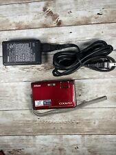 Nikon Coolpix S60 10MP Digital Camera 5x Zoom (Crimson Red) Tested + Charger