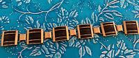 "Elephant Hair Style 9K Gold Bracelet...Handmade African ..3/4"" Wide"