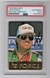 1995 NHRA Action Packed John Force Signed Auto Trading Card #36 PSA/DNA