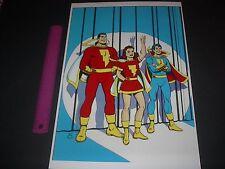DC COMICS SHAZAM FAMILY CAPTAIN MARVEL,CAPTAIN MARVEL JR AND MARY MARVEL PIN UP