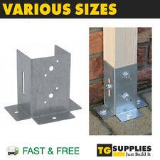 Galvanised Post Support Post Bracket Fence Foot Post Base Bolt Down Pergola Post