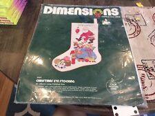 1983 Dimensions Needlepoint Stocking Kit  Santa Toys Christmas Eve Stocking NEW!