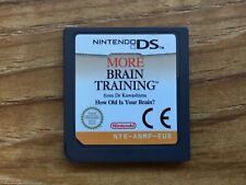 More Brain Training DS Nintendo DS Game, Cartridge Only! GENUINE!