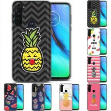 TPU Phone Case for Motorola G Stylus,G7 Play,Power,Plus,Fruit Cute Pattern Print